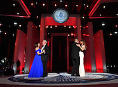 United States President Donald Trump and First Lady Melania Trump dance along with Vice President Mike Pence and Karen Pence at the Liberty Ball on January 20, 2017 in Washington, D.C. Trump will attend a series of balls to cap his Inauguration day.       <br /> Credit: Kevin Dietsch / Pool via CNP