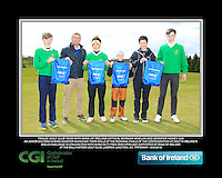 Tralee GC team with Bank of Ireland Official Morgan Whelan and CGI Participation Officer Jennifer Hickey with Junior golfers across Munster practicing their skills at the regional finals of the Dubai Duty Free Irish Open Skills Challenge at the Ballykisteen Golf Club, Limerick Junction, Co. Tipperary. 16/04/2016.<br /> Picture: Golffile | Thos Caffrey<br /> <br /> <br /> <br /> <br /> <br /> All photo usage must carry mandatory copyright credit (© Golffile | Thos Caffrey)