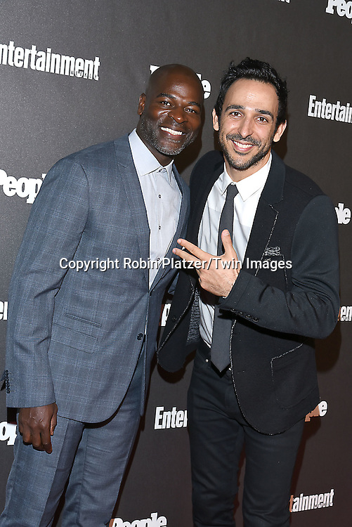 Hisham Tawfiq and Amir Arison attends the Entertainment Weekly &amp; PEOPLE Magazine New York Upfronts Celebration on May 16, 2016 at Cedar Lake in New York, New York, USA.<br /> <br /> photo by Robin Platzer/Twin Images<br />  <br /> phone number 212-935-0770