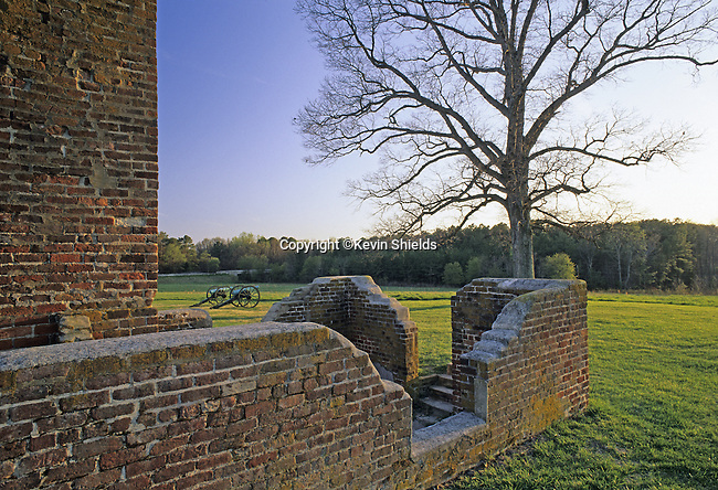 The Taylor Farm site, artillery location during the Battle of the Crater, Petersburg National Battlefield, Virginia, USA