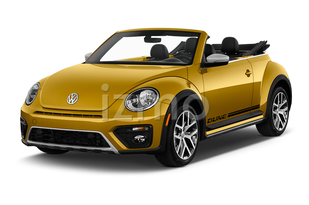 2017 Volkswagen Beetle Dune 3 Door Hatchback Angular Front stock photos of front three quarter view