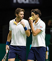 Rotterdam, The Netherlands, 18 Februari, 2018, ABNAMRO World Tennis Tournament, Ahoy, Doubles final, Pierre-Hugues Herbert (FRA) / Nicolas Mahut (FRA), <br />