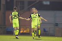Jayden Stockley of Exeter City celebrates the equalising goal during Colchester United vs Exeter City, Sky Bet EFL League 2 Football at the JobServe Community Stadium on 24th November 2018
