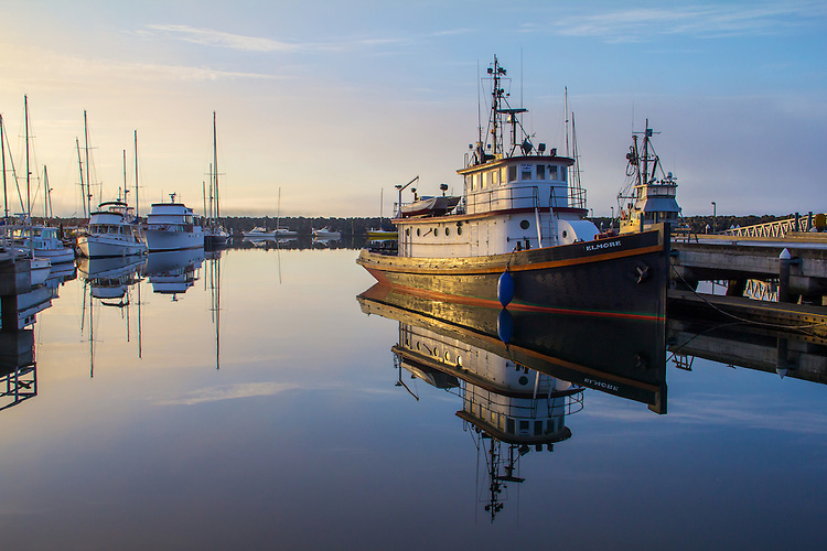 Port Townsend, tugboat, Elmore, Boat Haven Marina, Port of Port Townsend, Jefferson County, Olympic Peninsula, Puget Sound, Washington State, Pacific Northwest, USA,