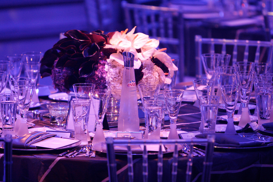 Photograph of the table setting at the BET Awards Diner For Debra Lee at a private location on June 25,2007. (Soul Brother For Evian)