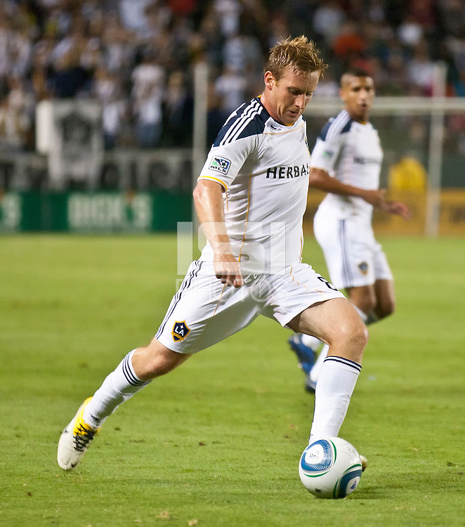 CARSON, CA – June 11, 2011: LA Galaxy midfielder Chris Birchall (8) during the match between LA Galaxy and Toronto FC at the Home Depot Center in Carson, California. Final score LA Galaxy 2, Toronto FC 2.