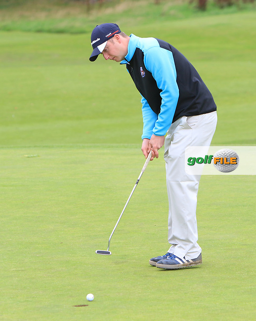 Sean Poucher (Limerick) on the 1st green during the AIG Senior Cup Final of the AIG Cups &amp; Shields Finals at Carton House Golf Club, Maynooth, Co Kildare. 23/09/2017<br /> Picture: Golffile | Thos Caffrey<br /> <br /> <br /> All photo usage must carry mandatory copyright credit     (&copy; Golffile | Thos Caffrey)