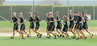 20180306 - LARNACA , CYPRUS :  Belgian team pictured during a Matchday -1 training from The Belgian Red Flames prior to their game against South Africa , on tuesday 6 March 2018 at the Alpha Sports Grounds in Larnaca , Cyprus . This will be the final game for Belgium during the Cyprus Womens Cup for a battle for the 5th place , a prestigious women soccer tournament as a preparation on the World Cup 2019 qualification duels. PHOTO SPORTPIX.BE | DAVID CATRY