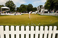 The putting greens at the Quail Hollow Championship at Quail Hollow Country Club on May 2, 2010 in Charlotte, North Carolina.  The event, formerly called the Wachovia Championship, is a top event on the PGA Tour, attracting such popular golf icons as Tiger Woods, Vijay Singh and Bubba Watson. Photo from the final round in the Quail Hollow Championship golf tournament at the Quail Hollow Club in Charlotte, N.C., Sunday , May 03, 2009..