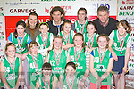 The Firies NS team that played in the District NS Senior A final at the Castleisland basketball blitz on Friday l-r: Emer O'Shea, Diane Cooper. Second row: Amy Kennedy, Natasha Peters, Orla O'Mahony, Fiona Fell, Clodagh Clifford. Third row: Elaine Mahony, Kelly O'Halloran, Brogyn Sheedy, Ciara Fell and Laura O'Connor. Back row: Eileen Brosnan Principal, Andrew Fitzgerald coach, Fiona Bailey and Mike Cooper..............