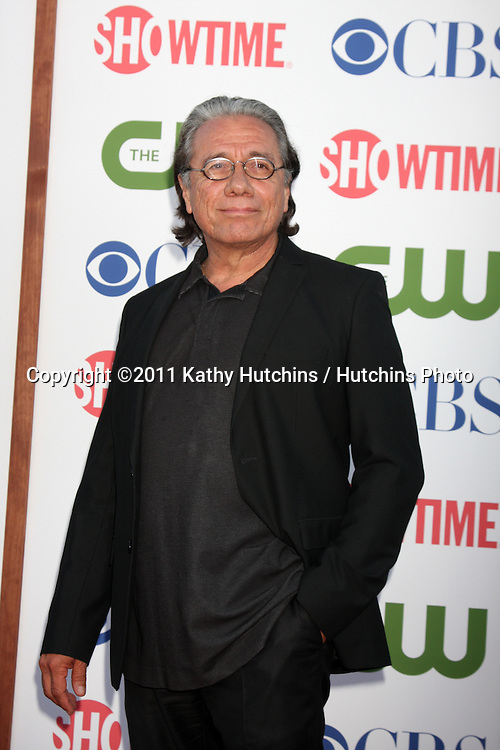 LOS ANGELES - AUG 3:  Edward James Olmos arriving at the CBS TCA Summer 2011 All Star Party at Robinson May Parking Garage on August 3, 2011 in Beverly Hills, CA