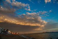 Bahia de Kino, nublado