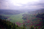 The tea plantation covering the whole valley at Rulindo, Rwanda