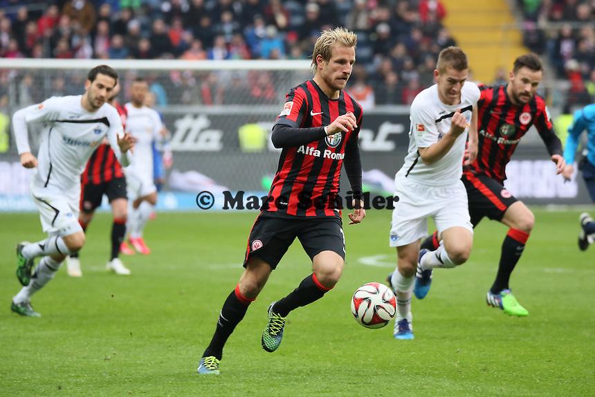 Stefan Aigner (Eintracht) auf dem Weg zum 3:0 - Eintracht Frankfurt vs. SC Paderborn 07, Commerzbank Arena