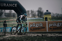 Klaas Vantornout (BEL/Marlux-Napoleon Games), mud<br /> <br /> Elite Men's Race<br /> CX Vlaamse Druivencross Overijse 2017
