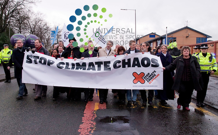 The wave climate chaos demo Bellahouston park Glasgow. Picture Johnny Mclauchlan/Universal news and Sport (Scotland)05/12/09.
