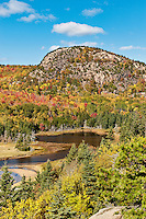 Beehive mountain and salt pond at Sand Beach, Acadia NP, Maine, ME, USA