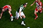 04/14/2011 - Kenny Cooper shows off his fancy foot-work as the Portland Timbers play FC Dallas during the Portland Timbers' second MLS home match at Jeld-Wen Field Sunday.  ..Photo by Christopher Onstott