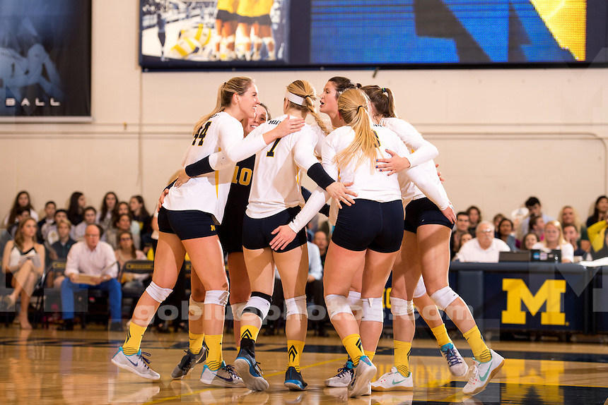 The University of Michigan volleyball team defeats Michigan State, 3-0, at Cliff Keen Arena in Ann Arbor, MI on November 23, 2016 (senior night).
