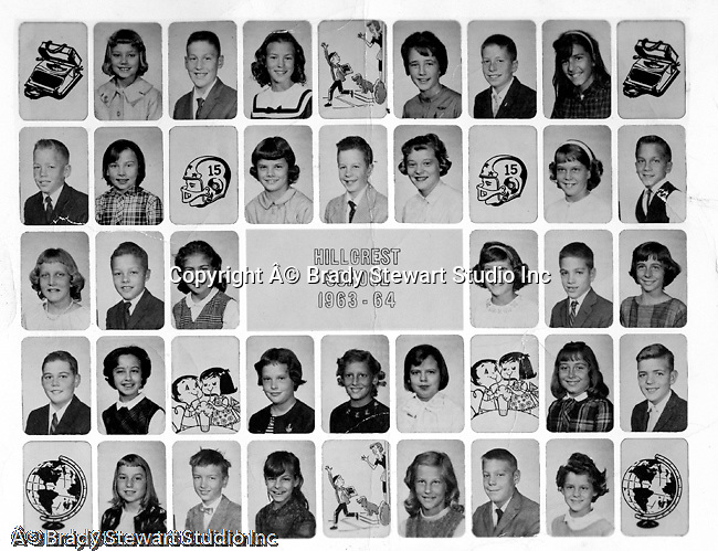 Bethel Park PA:  4th Grade Class at Hillcrest Elementary School on Bethel Church Road - 1963-64.  Miss Warbaugh was our teacher.  I am struggling with remembering the names... from bottom up; Mike Stewart, Jeff Sweet, Mike Tarbet, Cathy Shoemaker, Steven Stewart, Glenn Eisaman, Bob Bassett, Gary Glousser