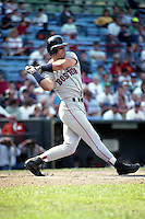 Boston Red Sox Phil Plantier (29) at bat during a game against the Baltimore Orioles during the 1991 season at Memorial Stadium in Baltimore, Maryland.  (MJA/Four Seam Images)
