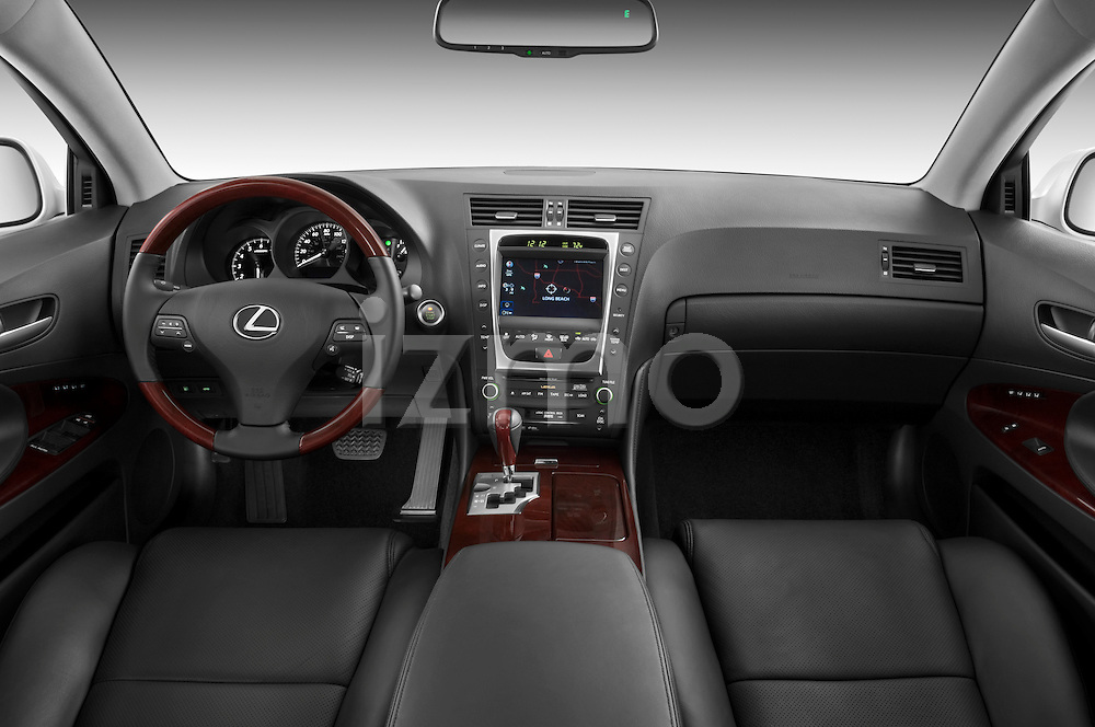 Straight dashboard view of a 2008 Lexus GS 460.