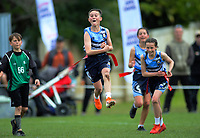 Palmerston North Intermediate celebrates winning the quickrip final. Day six of the 2019 AIMS games at Blake Park in Mount Maunganui, New Zealand on Friday, 13 September 2019. Photo: Dave Lintott / lintottphoto.co.nz