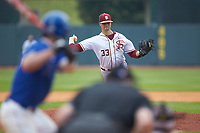 Florida State Seminoles relief pitcher Chase Haney (33) in action against the Duke Blue Devils in the first semifinal of the 2017 ACC Baseball Championship at Louisville Slugger Field on May 27, 2017 in Louisville, Kentucky. The Seminoles defeated the Blue Devils 5-1. (Brian Westerholt/Four Seam Images)