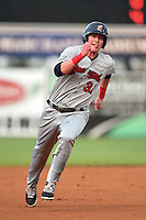 Brevard County Manatees  first baseman Garrett Cooper (31) during a game against the Lakeland Flying Tigers on April 10, 2014 at Joker Marchant Stadium in Lakeland, Florida.  Lakeland defeated Brevard County 6-5.  (Mike Janes/Four Seam Images)