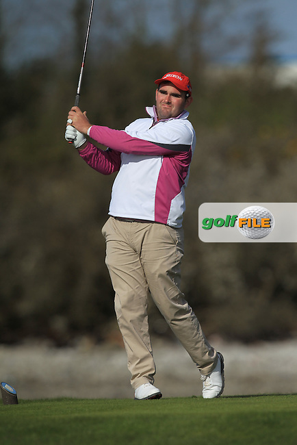 J. Ryan (Castletroy) on the 4th tee during Round 1 of the Munster Stroke Play Championship at Cork Golf Club on Saturday 30th April 2016.<br /> Picture:  Thos Caffrey / www.golffile.ie
