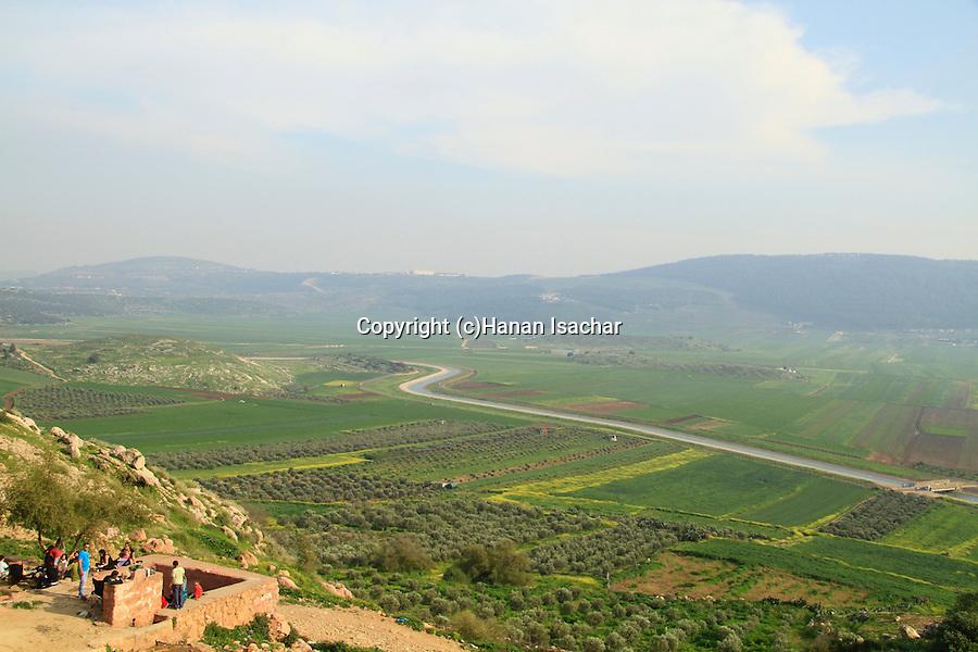 Israel, Lower Galilee, Ein Netofa overlooking Beit Netofa valley