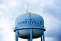 "The water tower reads ""Welcome to Marksville, Where Everybody is Somebody,'' Marksville, La., Sept. 17, 2017."