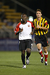 20 March 2004: Freddy Adu (9) is followed by Kevin Jackson during the second half. DC United of Major League Soccer defeated the Charleston Battery of the A-League 2-1 at Blackbaud Stadium in Charleston, SC in a Carolina Challenge Cup match..