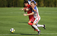 Portland, OR - Wednesday August 09, 2017: Matthew Hundley during friendly match between the USMNT U17's and Chile u17's at Nike World Headquarters in Portland, OR.