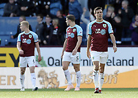Burnley's Jack Cork looks dejected after Huddersfield Town's Christopher Schindler scored his side's equalising goal to make the score 1-1<br /> <br /> Photographer Rich Linley/CameraSport<br /> <br /> The Premier League - Burnley v Huddersfield Town - Saturday 6th October 2018 - Turf Moor - Burnley<br /> <br /> World Copyright &copy; 2018 CameraSport. All rights reserved. 43 Linden Ave. Countesthorpe. Leicester. England. LE8 5PG - Tel: +44 (0) 116 277 4147 - admin@camerasport.com - www.camerasport.com