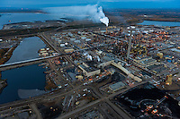 Alberta Oil Sands, Tar sands, syncrude upgrader. Alberta Athabasca Tar Sands or Oil Sands. Their production results in greater water and energy consumption, impacts a larger landbase, and produces more greenhouse gases than conventional methods.