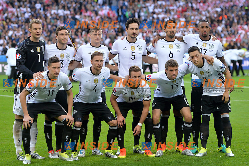 Formazione Germania Tea Germany Line Up <br /> Paris 16-06-2016 Stade de France Football Euro2016 Germany - Poland / Germania - Polonia Group Stage Group C. Foto Anthony BIBARD / FEP / Panoramic