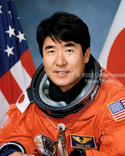 Houston, TX - (File) -- Astronaut Takao Doi, representing Japan Aerospace Exploration Agency (JAXA) is pictured in this August 5, 1997 portrait.  STS-123, flying aboard the Space Shuttle Endeavour, is scheduled for launch at 2:28 a.m. EDT Tuesday, March 11, 2008.  Its mission is to deliver the first pressurized component of the Japanese Kibo (Hope) Laboratory and a Canadian robotic device called Dextre utilizing 5 spacewalks.  Its 16-day flight is the longest shuttle mission to date..Credit: NASA via CNP