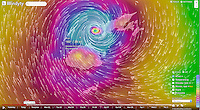 Namotu Island Resort, Nadi, Fiji (Saturday, February 20 2016): Weather maps - images showing Tropical Cyclone Winston, a Cat 5 cyclone and described as the worse storm ever to hit Fiji has been bearing down on us all day from East. The predicted track has been changing all day but it looks like the cyclone will pass very close to the North or even pass right over the top of the island. Winds are forecast to reach in excess of 300 klm per hour. Photo: joliphotos.com