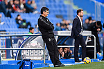 Coach Jose Luis Mendilibar of SD Eibar (L) during the La Liga 2017-18 match between Getafe CF and SD Eibar at Coliseum Alfonso Perez Stadium on 09 December 2017 in Getafe, Spain. Photo by Diego Souto / Power Sport Images