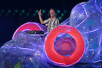 12.08.2012. London, England Fatboy Slim performs during the Closing Ceremony of the London 2012 Olympic Games at the Olympic stadium, London, Britain, 12 August 2012.