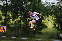 FIERJLEPPEN: JOURE: 18-06-2014, ROC Friese Poort Competitie, Dames Topklasse, Thewis Hobma wint, ©foto Martin de Jong