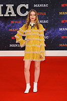 LONDON, ENGLAND - SEPTEMBER 13:   Sorcha Groundsell attending the World premiere of the new Netflix series 'Maniac' at Southbank Centre on September 13, 2018 in London, England.<br /> CAP/MAR<br /> &copy;MAR/Capital Pictures