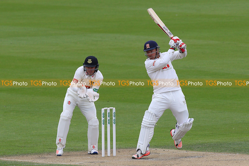 Graham Napier of Essex hits four runs as Ben Brown looks on from behind the stumps during Sussex CCC vs Essex CCC, Specsavers County Championship Division 2 Cricket at The 1st Central County Ground on 18th April 2016