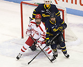 Ryan Cloonan (BU - 8), Collin Delia (Merrimack - 1), Jonathan Lashyn (Merrimack - 7) - The visiting Merrimack College Warriors defeated the Boston University Terriers 4-1 to complete a regular season sweep on Friday, January 27, 2017, at Agganis Arena in Boston, Massachusetts.The visiting Merrimack College Warriors defeated the Boston University Terriers 4-1 to complete a regular season sweep on Friday, January 27, 2017, at Agganis Arena in Boston, Massachusetts.