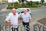 DANGER: Tommy O'Connor and Fr. Patsy Lynch pictured at Mulchinocks Corner in Tralee.   Copyright Kerry's Eye 2008