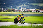 Akvile Gedraityte (LIT) in action during the Women's Junior Individual Time Trial of the 2018 UCI Road World Championships running 20km around Innsbruck, Innsbruck-Tirol, Austria 2018. 24th September 2018.<br /> Picture: Innsbruck-Tirol 2018 | Cyclefile<br /> <br /> <br /> All photos usage must carry mandatory copyright credit (&copy; Cyclefile | Innsbruck-Tirol 2018)