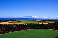 Hole number 17 of the Hualalai golf course designed by Jack Nicklaus, Big Island