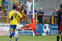 Paul Farman of Stevenage see the ball curl wide during St Albans City vs Stevenage, Friendly Match Football at Clarence Park on 13th July 2019