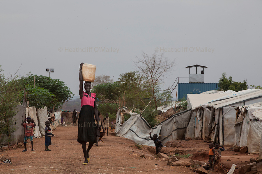 Mcc0075406 . Daily Telegraph<br /> <br /> DT Foreign<br /> <br /> POC 3 , the Protection of Civilian Camp inside the vast UN compound on the outskirts of Juba . Over 20,000 civilians who predominantly fled from conflict in the equatorial states of South Sudan . United Nation's agencies recently announced a famine in the war torn country .<br /> <br /> Juba 27 February 2017